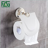 FLG Space aluminum Bathroom Toilet Paper Holder aluminum Toilet Roll Holder Bathroom Accessories White Finish