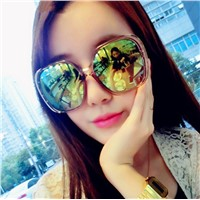 Gy snail Round oversized Sunglasses Women Fashion Brand Designer Classic black Steampunk Sun Glasses female UV400 Rayed Mirror