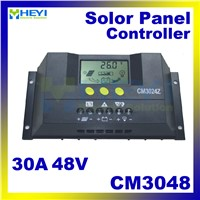CM3048 solar charge and discharge controller 30A 48V solar controller pwm LCD adjustable current and voltage display