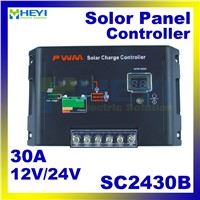 SC2430B Universal solar controller with External temperature sensor 12V / 24V 30A charge and discharge for solar garden light