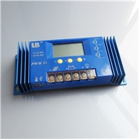 60A 12V/24V PWM LB Brand Solar Panel Charge Controller Regulator LCD Display Lithium iron battery Li Li-ion