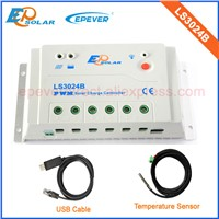 PWM solar power controller 30A 30amp with temperature sensor and USB cable LS3024B for 12v/24v auto work