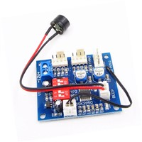WS16 DC 12V 4A PWM PC CPU Fan Temperature Control Regulator Thermostat Speed Controller Switch High-Temp Alarm + Buzzer & Sensor