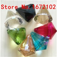 China Top AAA Quality Crystal Balls 30mm 100pcs Mixed Color Glass Chandelier Prism Balls for Dining Room Lights Decoration
