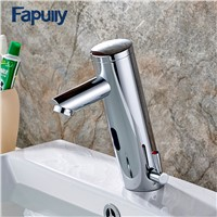 Fapully Bathroom Water Mixer Basin Faucet Automatic Touch Mixer Tap Hot Cold Sensor Faucet Bathroom Sink Faucets