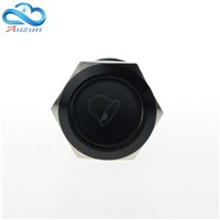 19 mm reset button switch doorbell button 5 a 250 v alumina black head can be customized
