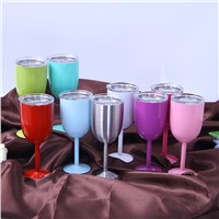 Glass Wine Goblets Stainless Steel Wine Glass Beer Wine Cup Stainless Steel Wine Glasses
