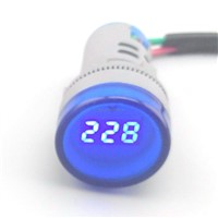 22MM digital AC Voltmeter 60-700V red green yellow blue voltage meter AD16 Digital display Indicator lamp