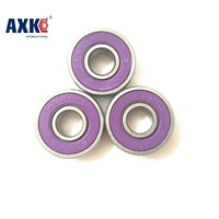10pcs Purple 608-2RS 8X22X7mm 608RS for 608 hand spinner roller skate inline red skates shoes Ball bearings 8*22*7mm