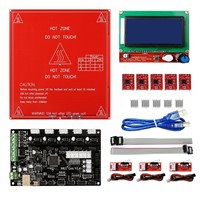 MKS Gen V1.4 RepRap Ramps1.4 +12864 Smart LCD Display +Heated Bed+5PCS A4988 Stepper Motor Driver+3PCS Mechanical Endstop Switch