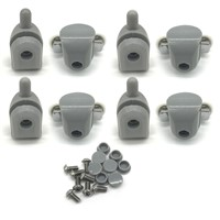 Shower Door Rollers 22MM 4pcs Double Upper and 4pcsSingel Bottom Sliding Glass Bathroom Bearing Wheels Runners Replacements