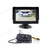 "Vehicle Driving Accessories 4.3"" TFT LCD Rearview Car Monitor + Auto Video Parking Sensor With Rear View Camera"