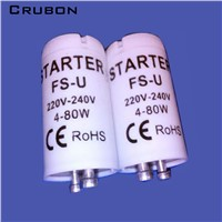 CRUBON  10PCS/Lot high-quality special for AC220V-240V 4-80W fluorescent tube  fuse starter CE Rohs fuse starters