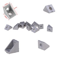 Aluminum Brace Corner Joint Right Angle Bracket Joint L Shape 20x20x17mm New High Quality Wholesale 10Pcs