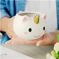 ARTGAT 300ml Unicorn Mugs Cup Cuteness 3D Unicorn Ceramic Coffee Mug CUP Gold Stereo Cute Unicorn Cups