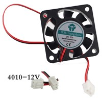 1pcs 4010Fan 4010 Mini Fan 12V 40x40x10mm 2-Pin Computer PC VGA Video Heat Spread Cooler Cooling Fan for stepper motor