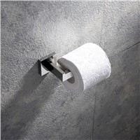 Black and chrome brief square toilet paper holder bathroom accessories stainless steel paper rack 2 surface styles choice
