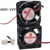 1pcs 4020Fan 4020 Mini Fan 24V 40x40x20mm 2-Pin Computer PC VGA Video Heat Spread Cooler Cooling Fan for stepper motor