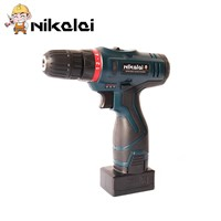 NIKALAI 25V 1350R/MIN Cordless Electric screwdriver Rechargeable lithium battery home Electric drill driver with led lights tool