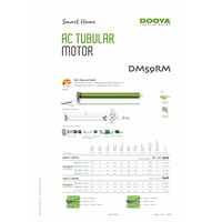 Dooya tubular motor built-in receiver DM59RM-80N, 230V/120V for garage door