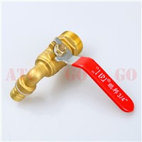 "1/2"" BSP Male Thread Connection Tap Brass One Handle Faucet With Ball Valve For hot Water heating drain valve elbow faucet"