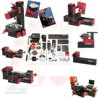 6 in 1 Motorized Mini Tool System,Mini CNC machine Metal lathe,Wood lathe,Jig-saw,Grinder,Driller,Milling