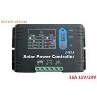 15A 12V 24V Auto Distinguish Switch PWM Solar Charge Controller for solar system