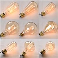 E27 Edison Light Bulb ST64 A19 G125 40W 220V Incandescent Bulbs Retro Vintage Filament Bulb Antique Edison Bulbs Tungsten Lamp