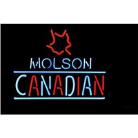 NEON SIGN For MOLSON CANADIAN SIGN Signboard REAL GLASS BEER BAR PUB  display  Signage Club  christmas Light Signs 17*14""