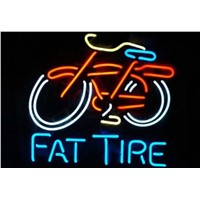 Business Custom NEON SIGN board For New Belgium Brewing Company Fat Tire GLASS Tube BEER BAR PUB Club Shop Light Signs 16*15""