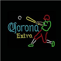 "17*14""  CORONA EXTRA  NEON SIGN REAL GLASS BEER BAR PUB LIGHT SIGNS store display  Packing  Baseball Bulbs  Advertising Lights"