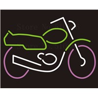 Custom NEON Sign Board motorcycle scooter autocycle  autobike Glass Tube Display Store Shop Light Signboard Signage Signs 17*14""