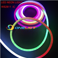 RGB WS2811 IC LED Full Color Flexible LED Neon Flex rope bar light 5050 60leds/M outdoor Indoor white RGB soft tube strip lights