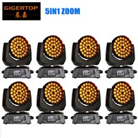 Freeshipping 8xLOT Zoom 36x15W RGBWA 5 in 1 LED Zoom Moving Head Wash Light DMX 18 Channels Beam Angle 15-60 Degree stage wash