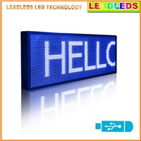 "Leadleds 30""x11"" Blue Color Multi-line LED Display Programmable Scrolling Message Led Sign Top Advertising Sign For Car Window"