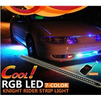 7-Colors RGB Led Knight Rider Light 56cm 5050 led 48smd Scanner Strip Lighting with Wireless Remote Control For Car Underglow