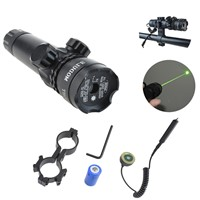 Laser Sight Scope Hunting Adjustable Green Outside Airsoft Rifle Gun Scope Riflescope Gun Rifle Tactical Laser Flashlight