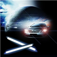 DRL LED Daytime Running Car Light Ultra Bright Waterproof Truck Vehicle Styling 12V 6W COB Source Fog Lamp Bar 17cm 2pcs/lot