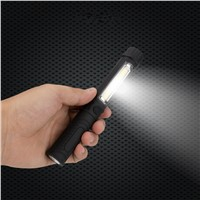 sanyi Portable Plastic COB LED Flashlight Torch Light With Magnetic Clip Working inspection lights For Camping Outdoor USE 3*AAA