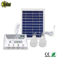 2016NEW multi-function Solar Mobile Lighting System Home outdoors Camping Tent Eemergency Charging Mobile Phone+2LED Bulbs