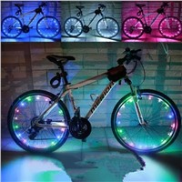 New Hot Wire Lights Gas Nozzle Warning Bike Light Bicycle Parts Cycling Flashlight Bike Bicycle Wheels Spoke Light