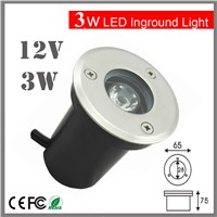 3W 12V DC12v  IP67 LED Underground Light Lamp Waterproof Shockproof High-power Tempered Glass