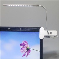 Top Fashion Clip-on 10 LED USB Light Flexible Gooseneck Reading Touch Desk Table Lamp
