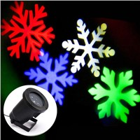 Mini Outdoor RGBW Snowflake LED Spotlight Garden Yard Holiday Lawn Landscape Decoration Projector Light GO-LED02