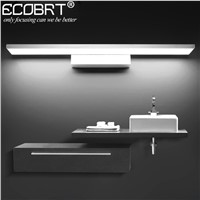 ECOBRT Modern Aluminum LED wall Light lamps in Bathroom Wall Mounted over Mirror Picture lights Silver Gold Black deco wall lamp