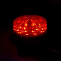 Wired Strobe Siren 12V 24V 220V Signal Warning Light Flash Siren LED Lamp Highlight Alarm Lamp for Alarm Systems Security Home