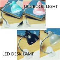 Mini LED Clip on Adjustable Book Reading Light Bright Desk Lamp