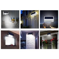 Outdoor 440LM 20 LED Solar Power PIR Motion Sensor Garden Yard Wall Light Super Bright Garage Security Door Lamp IP65 Waterproof