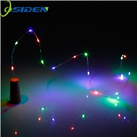 OSIDEN LED Glass Wine Silver Wire String Light  1m  with Battery Powered by 3x CR2032 For Bottle Christmas Party Wedding
