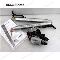BOOMBOOST 1 set  LED Daytime Running Lights DRL Case for R/enault K/oleos 8LEDS 2011 -2013, Front Bumper Fog Lamp,